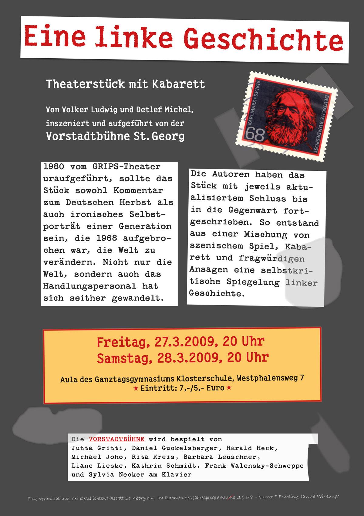 Plakat der Vorstadtbühne St. Georg